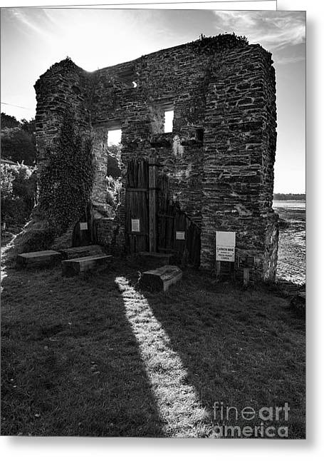 Greeting Card featuring the photograph Photographs Of Cornwall Carnon Mine by Brian Roscorla