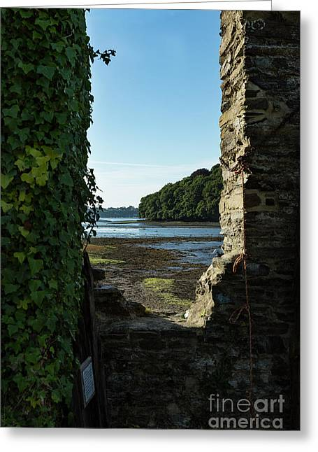 Greeting Card featuring the photograph Photographs Of Cornwall Carnon Mine Window by Brian Roscorla