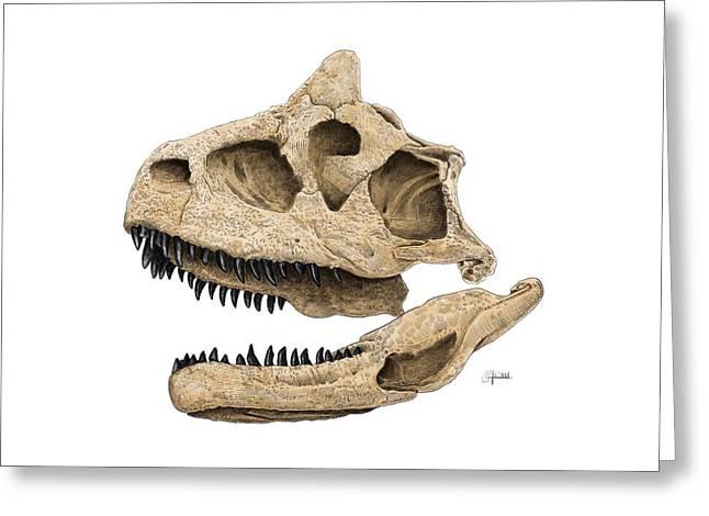 Carnotaurus Skull Greeting Card