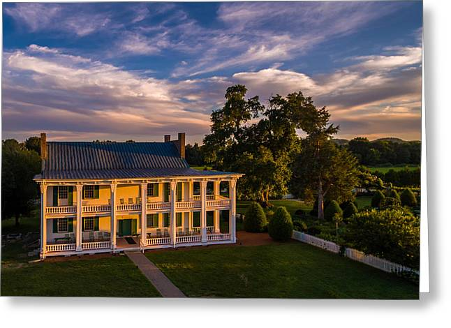 Carnton At Sunset Greeting Card