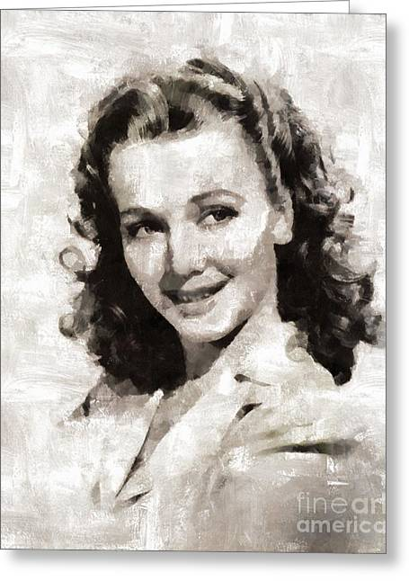 Carole Landis, Actress Greeting Card