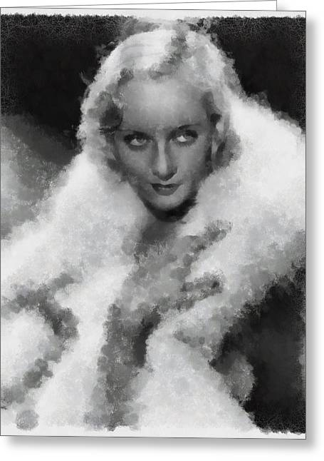 Carole Lombard Greeting Card by Esoterica Art Agency