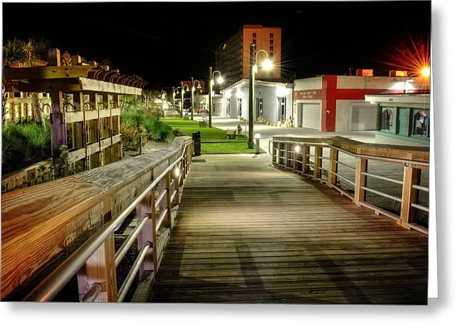 Carolina Beach Boardwalk Ramp Greeting Card