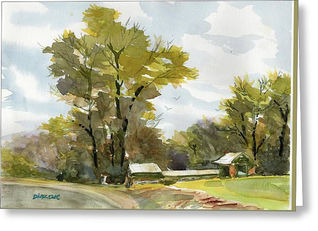 Carolina Farm Field Greeting Card