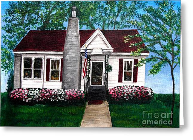 Carolina Home Greeting Card by Patricia L Davidson