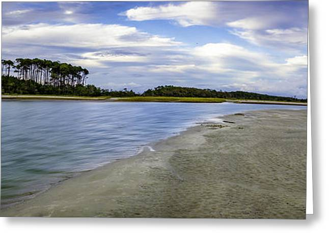 Carolina Inlet At Low Tide Greeting Card