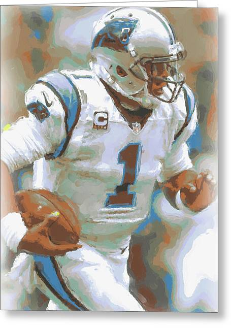 Carolina Panthers Cam Newton 2 Greeting Card