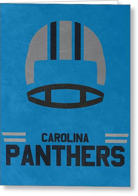 Carolina Panthers Vintage Art Greeting Card