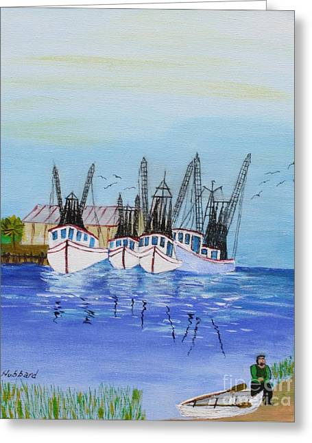 Carolina Shrimpers Greeting Card