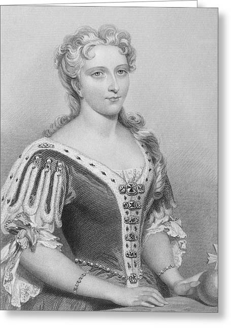 Caroline Of Ansbach,1683-1737. Queen Greeting Card by Vintage Design Pics