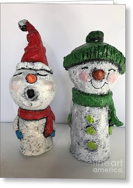 Caroling Snowmen Greeting Card