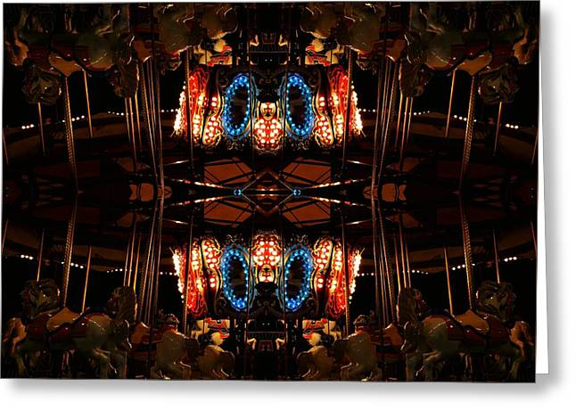 Carousel Greeting Card by Amanda Kessel