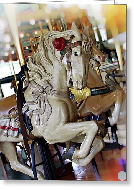 Carousel Belle Greeting Card by Melanie Alexandra Price