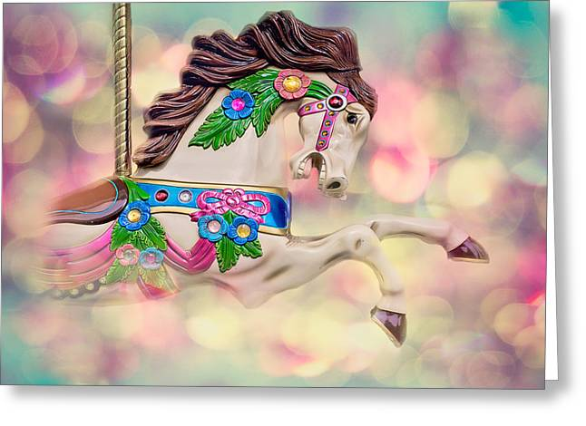 Carousel Bubbles Greeting Card