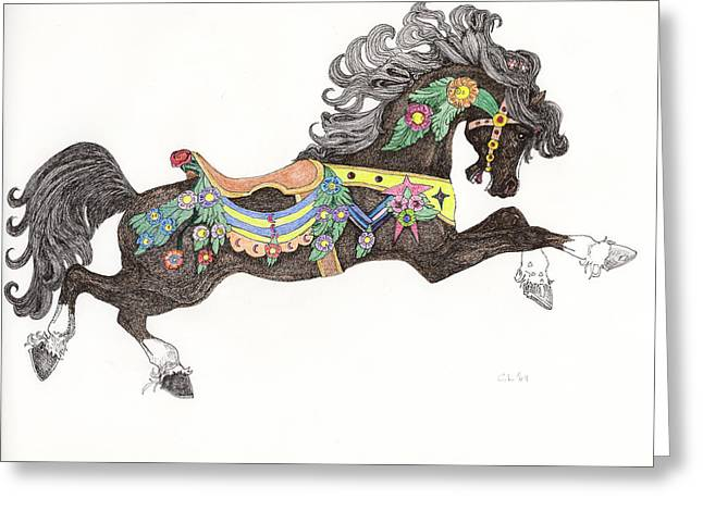 Carousel Charger Greeting Card