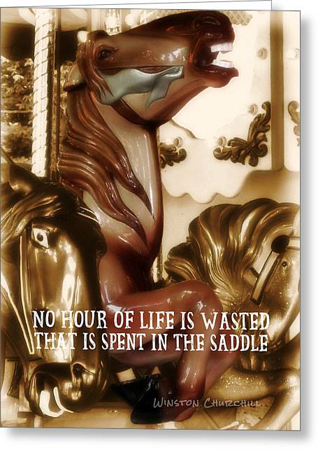 Carousel Color Quote Greeting Card