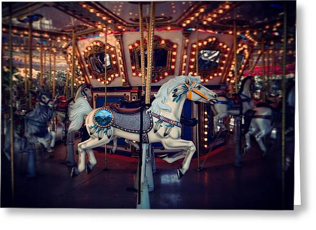 Greeting Card featuring the photograph Carousel by David Mckinney