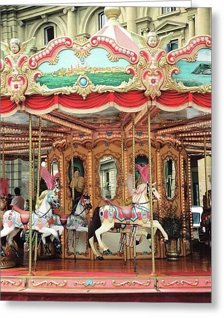 Carousel, Florence Greeting Card