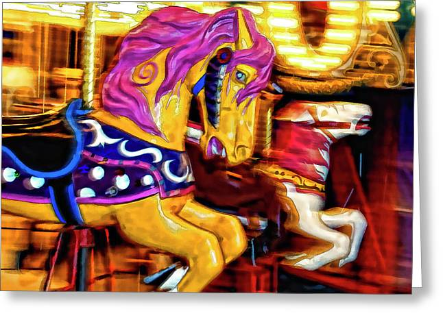 Carousel Horse - D006484d Greeting Card by Daniel Dempster