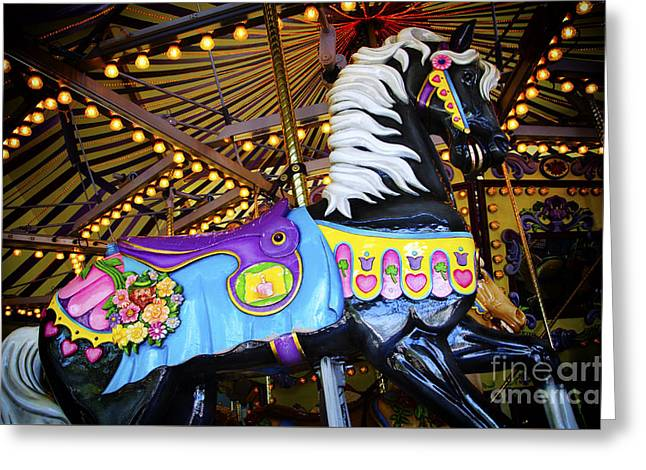 Carousel Horse 1 Greeting Card by Bob Christopher