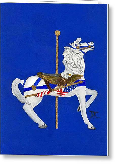 Carousel Horse #1 Greeting Card