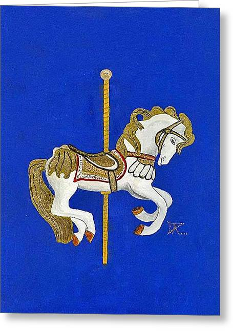 Carousel Horse #3 Greeting Card