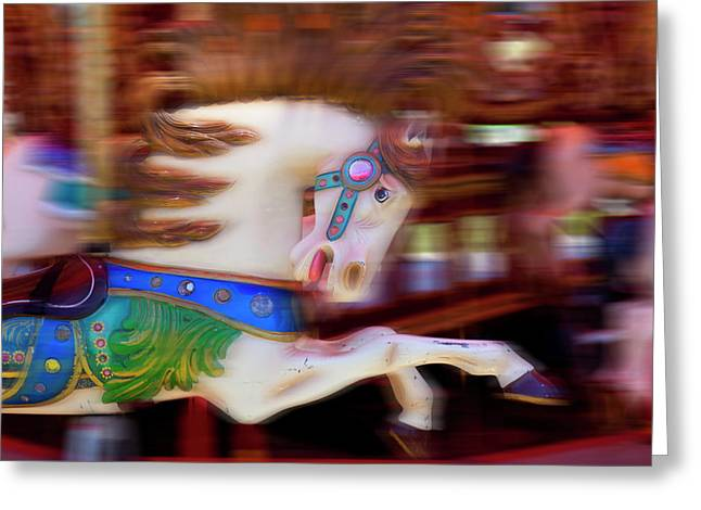 Carousel Horse In Motion Greeting Card