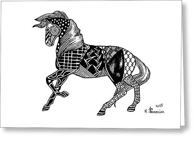 Carousel Horse Greeting Card by Kayleigh Semeniuk