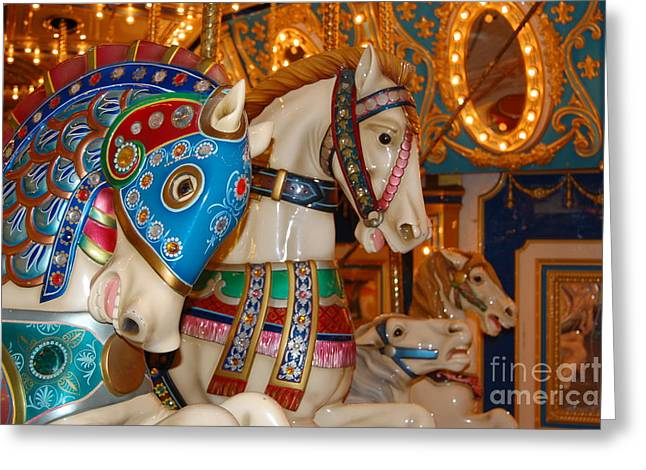 Carousel Horses Greeting Card by Patty Vicknair
