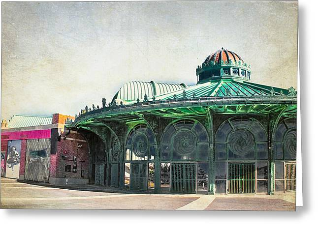 Carousel House At Asbury Park Greeting Card by Colleen Kammerer