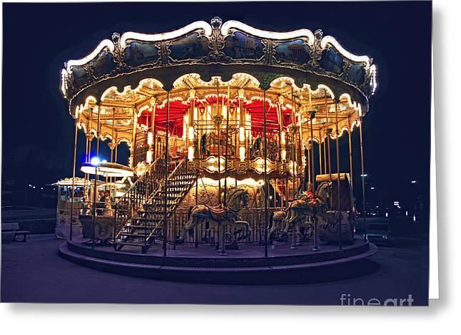 Carousel In Paris Greeting Card
