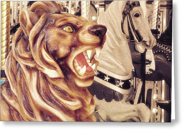 Carousel King Greeting Card by JAMART Photography