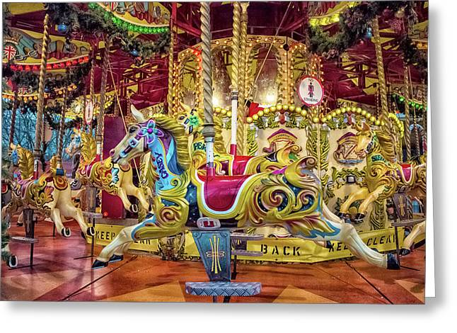 Carousel Greeting Card by Martin Newman