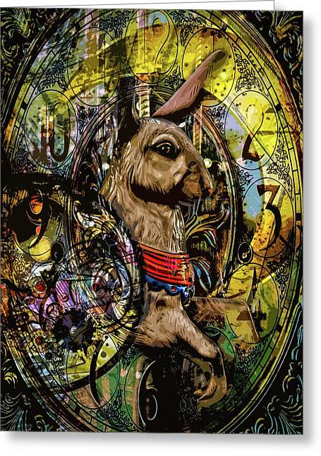 Greeting Card featuring the photograph Carousel Rabbit by Michael Arend