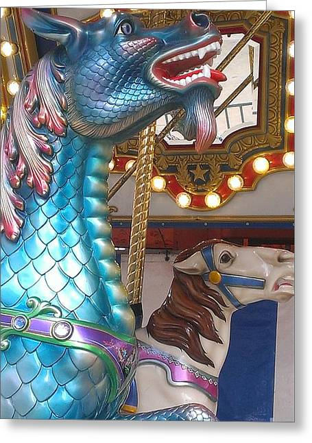 Carousel Seadragon Greeting Card by LKB Art and Photography