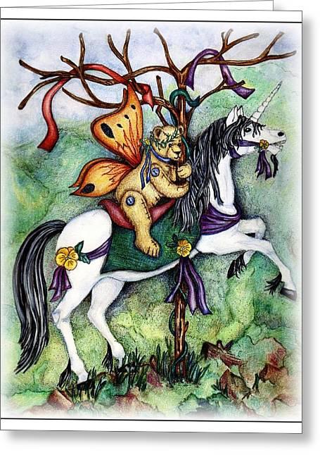 Carousel Unicorn Greeting Card