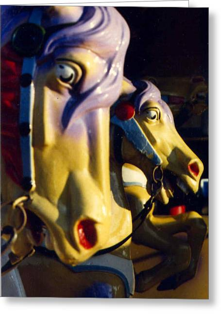Carousel Greeting Card by William Thomas