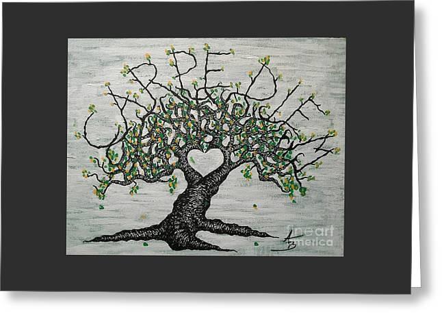 Carpe Diem Love Tree Greeting Card