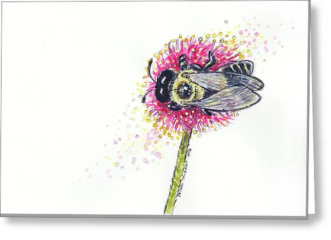 Carpenter Bee Greeting Card