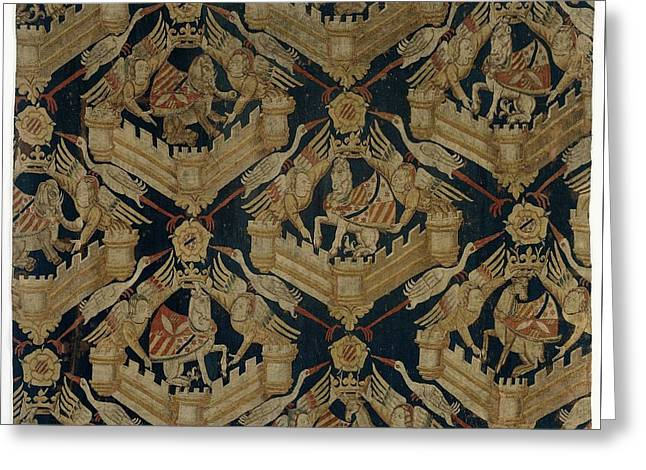 Carpet With The Arms Of Rogier De Beaufort Greeting Card by R Muirhead Art