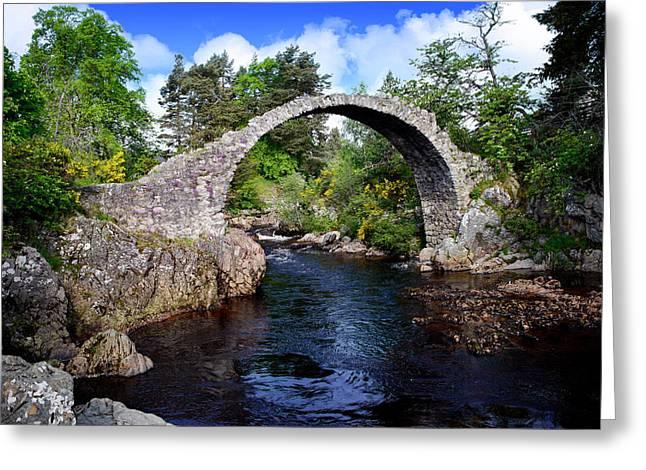 Carr Bridge Scotland Greeting Card