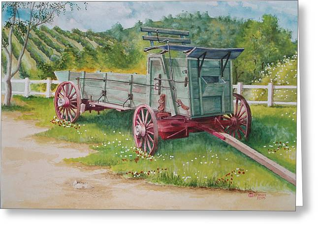 Carriage  Greeting Card by Charles Hetenyi