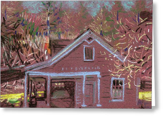 Carriage House Greeting Card by Donald Maier