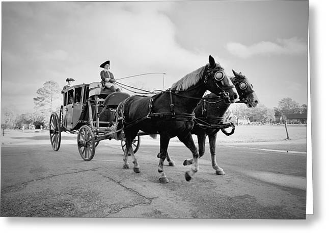 Carriage Ride In Williamsburg Greeting Card