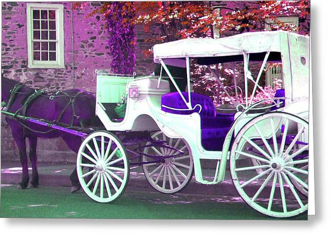 Greeting Card featuring the photograph Carriage Ride by Susan Carella