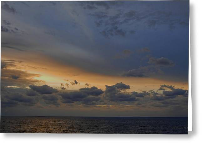 Greeting Card featuring the photograph Carribean Dawn by Michael Flood
