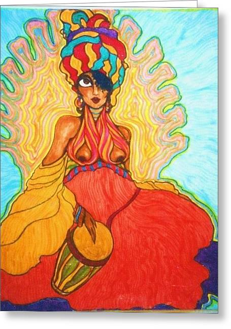 Carribean Princess Greeting Card by Rae Chichilnitsky