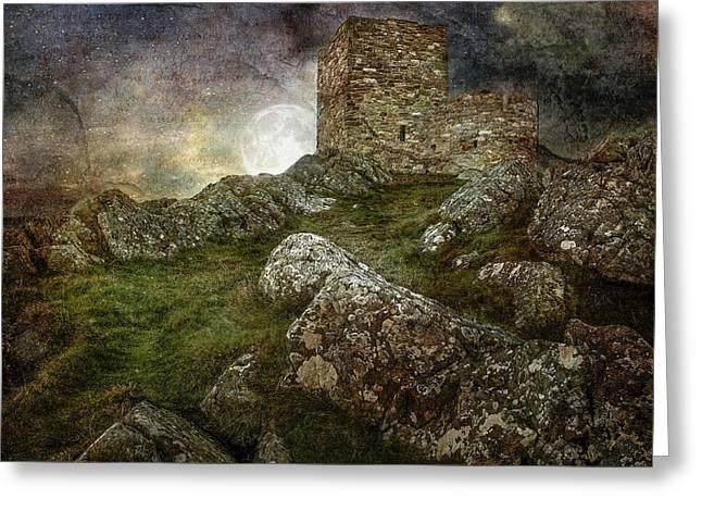 Carrickabraghy Castle Greeting Card by Pat Eisenberger