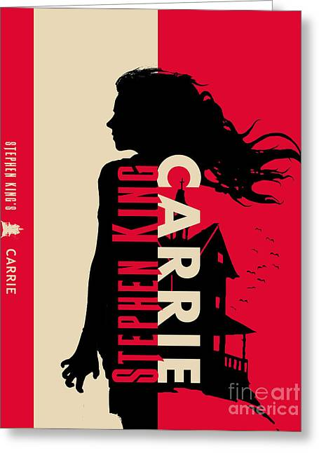Carrie By Stephen King Book Cover Movie Poster Art 2 Greeting Card by Nishanth Gopinathan