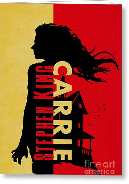 Carrie By Stephen King Book Cover Movie Poster Art 3 Greeting Card by Nishanth Gopinathan